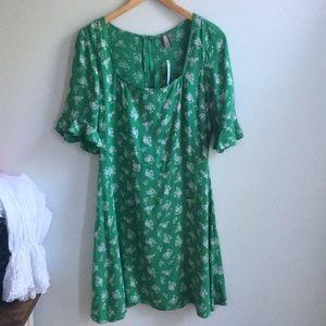 NWT Asos green floral dres